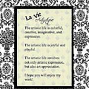 La Vie Artistique Poster