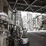 Laboring Under The Bridge  Poster