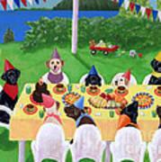 Labrador Party Poster