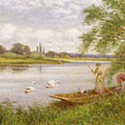 Ladies In A Punt Poster