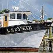 Lady Eva Shrimp Boat Poster