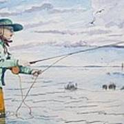 Lady Fly Fishing Poster