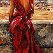 Lady In Red  34 -  I Love Budapest Poster