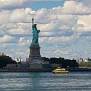 Lady Liberty And Water Taxi Poster