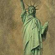 Lady Liberty New York Harbor Poster