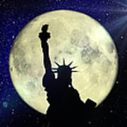 Lady Liberty Nyc - Featured In Comfortable Art Group Poster