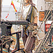Lady Pirate Of Penzance Poster by Terri Waters