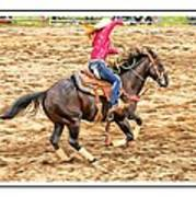 Lady Roping Poster