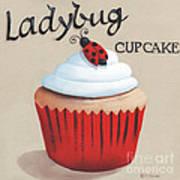 Ladybug Cupcake Poster