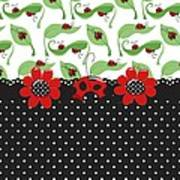 Ladybug Flower Power Poster