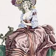 Ladys Elegant Caramel Coloured Satin Poster