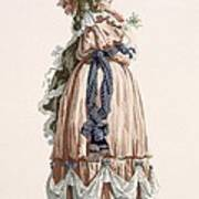 Ladys Summer Walking Gown, Engraved Poster