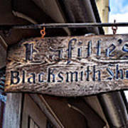 Lafittes Blacksmith Shop Sign Poster