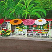 Laguna Beach Flower Stand Poster