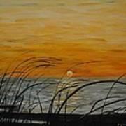 Laguna Madre Sunset Poster