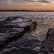 Lake Champlain Sunset Burlington Vermont Oakledge Park Poster