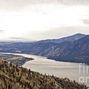 Lake Chelan From Above Poster