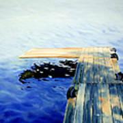 Lake Dock Poster by Paula Marsh