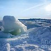 Lake Erie Ice Sunrise Poster