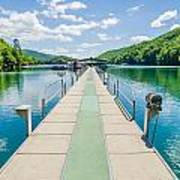 Lake Fontana Boats And Ramp In Great Smoky Mountains Nc Poster