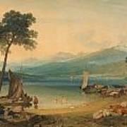 Lake Geneva And Mount Blanc Poster