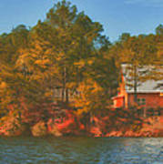 Lake House Poster by Brenda Bryant