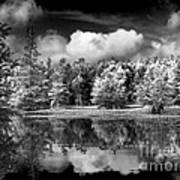 Lake In Black And White One Poster
