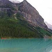 Panoramic Lake Louise, Alberta - Morning Reflections Poster