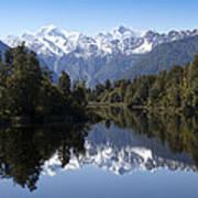 Lake Matheson New Zealand Poster
