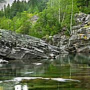 Lake Mcdonald Falls River Glacier National Park Poster