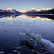 Lake Mcdonald Winter Poster