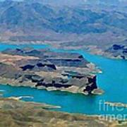Lake Mead Aerial Shot Poster