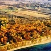 Lake Michigan Shoreline In Autumn Poster