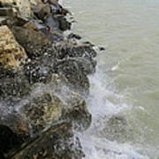 Lake Michigan Splash Poster