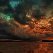 Lake Murray Fire Sky Poster