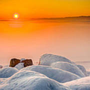 Lake Pepin Winter Sunrise Poster