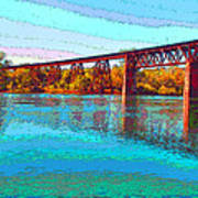 Lake Redding Ca Digital Painting Poster