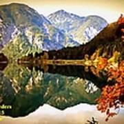 Lake Scene H A Poster