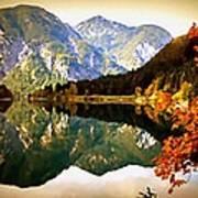 Lake Scene H B Poster
