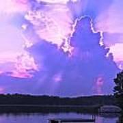 Lake Sunset II Poster
