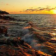 Lake Superior Dawn Poster