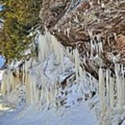 Lake Superior Icicle Shoreline Poster