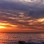 Lake Superior Sunset Panorama Poster