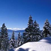 Lake Tahoe In Winter Poster