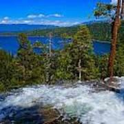 Lake Tahoe Waterfall Poster