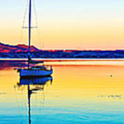 Lake Taupo Sailboat Poster