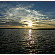 lake Tomiko Sunset Poster by Dianne  Lacourciere