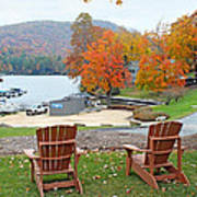 Lake Toxaway Marina In The Fall Poster