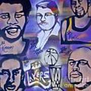 Lakers Love Jerry Buss 2 Poster by Tony B Conscious