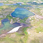 Lakes From The Seaplane In Katmai National Preserve-alaska Poster